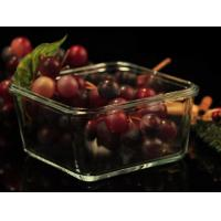 China Recyclable Borosilicate Airtight Microwave Safe Glass Bowl Heat Resisting wholesale