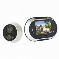 China Hot Selling 3.5-inch LCD Screen Door Viewer Camera with Video Function, 0.3 Megapixels wholesale