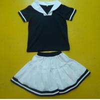 China Navy And White Boy And Girl Matching Outfits With Polo Shirt Skirt Pant Customized Size wholesale