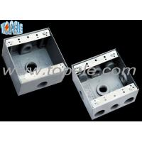 China Square Weatherproof Electrical Boxes 3 Hole One Gang Outlet Fitting Accessory on sale