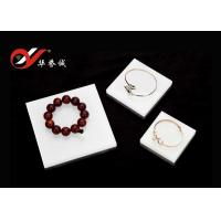 China 3 Pieces Set Square Acrylic Counter Display Stands / Platform For Jewelry Show wholesale