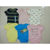 Buy cheap Malaysia baby outfits Cheap brand clothes stock Gap infant cotton short sleeve from wholesalers