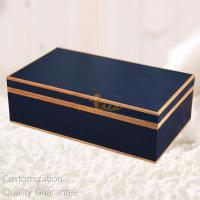 China Luxury High Gloss Marine Blue Personalized Wooden Gift Box for Perfumes, Watches, Wine  , Personalized Logo Brand. wholesale