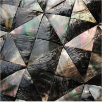 China Convex Surface Sea shell Wall Panel Black Butterfly Shell Decorating Panel Triangle 40mm wholesale