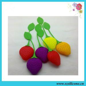 China NEW Popular silicone fruit  shape tea infuser, eco-friendly tea strainer , wholesaler wholesale