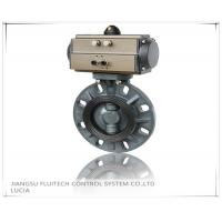 China General DN50 PVC Pneumatic Butterfly Valve Wafer Connection With 8 Mounting Holes wholesale