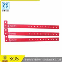China promotional custom printed vinyl wristband soft pvc bands for events on sale