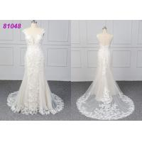 China White Color Lace Wedding Womens Ball Gowns Fashionable Bridal Dress Eco wholesale