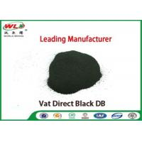 China Vat Direct Black DB Textile Cotton Fabric Dye Chemicals Used In Textile Dyeing wholesale