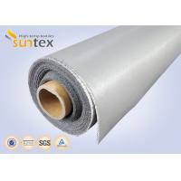 China 0.3 Mm Thick Blue And Black Color Silicone Fiberglass Cloth Safety Curtain Fabric wholesale