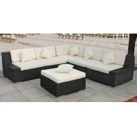 China Outdoor Rattan Furniture , Garden Sectional Sofa Set With Ottoman wholesale