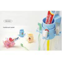 China TOOTHBRUSH & TOOTHPASTE HOLDER - 3 ASSORTED COLORS wholesale