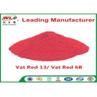 China Indigo Clothes Dye C I Vat Red 13 Vat Dyes Red 6B Not Dissolved In Water wholesale