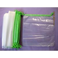 China Personalised HDPE / LDPE Clear Drawstring Plastic Bags For Packaging wholesale
