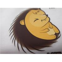 China Cartoon Pattern Silk  Screen Heat Transfer Wash Labels For Garment Or Bags wholesale