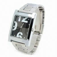China Zinc Alloy Hand Watch with IPG Plating, Made of Alloy Case and Strap, Suitable for Promotional wholesale