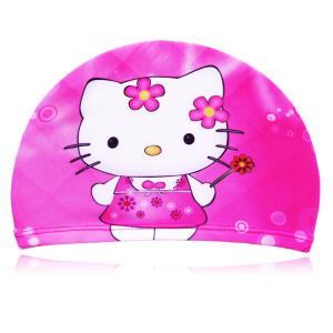 China 2014 NEW Children lycra swim cap with custom logo wholesale