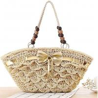 China straw beaded bags wheat straw bag 80163 wholesale