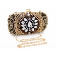 China Vintage Retro Crystal Evening Clutch Bags Fashion Bead With Black Velvet on sale