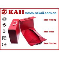 China Red Gift Packaging Boxes / 1500g Grey Card + 157g Art Paper For Decorative wholesale