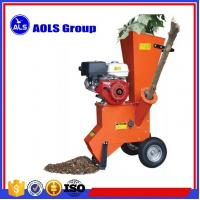 China Gasoline engine drive tree leaves crusher machine garden branch chipper wholesale
