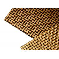 China Architectural Brass Plated Decorative Wire Mesh For Cabinetry And Cladding on sale