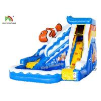 China Commercial PVC Tarapulin Blue Mini Inflatable Water Slide With 2 Years Warranty on sale