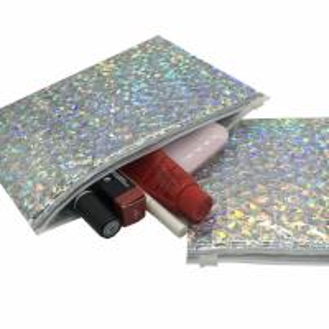 China Factory Price Reusable Packing Bubble Slider Bag Metallic Zip Top Bubble Bag wholesale