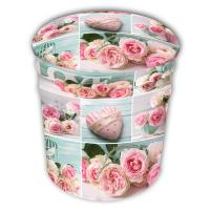 China European Rose Metal Barrel Stool Creative Storage Stool Change Shoes Stool Bar Soft Decorations Stool on sale