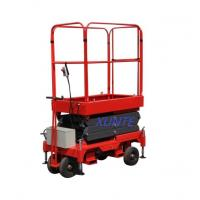 Buy cheap Adjustable Manual Pushing Mobile Mini Scissor Lift Hydraulic Aerial Work from wholesalers