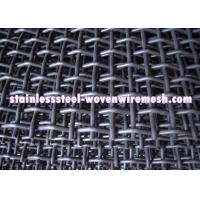 China High Tensile Carbon Steel Crimped Wire Mesh With Square Aperture And Round Wire In Sheet wholesale