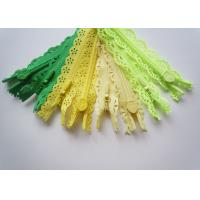 China Custom Length Double Sided Sewing Notions Zippers , Nylon Lace Zipper For Clothes wholesale