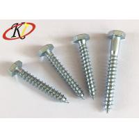 Buy cheap Blue Zinc Plated Hex Flange Head Self Tapping Screws With Head Serrated Underneath from wholesalers