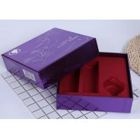 China Retail Cosmetic Packaging Boxes / Silver Paper Box Lid And Base Style wholesale