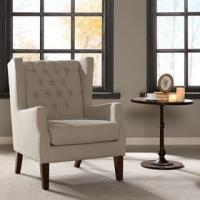 China Lounge Arm Accent Chair , Cream Occasional Chair With Solid Frame Construction wholesale