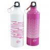 China 1ltr Aluminium sports water bottle Aluminium Drinking Water Bottle Screw Cap and Carabineer Sports Hiking wholesale