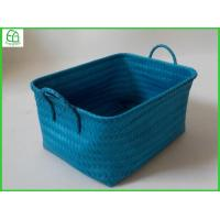 China 100% handwoven PP rectangle home storage basket , nested structure wholesale