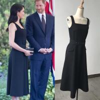 Elegant Brief Sleeveless Black Dress Same As Harry Princess Megan Chic Women Slim Bodycon Dress With Belt Good Quality