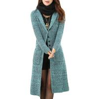 China Melange Cable Knit Womens Long Cardigans Women'S Button Front Cardigan Sweaters wholesale
