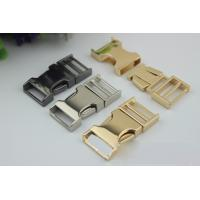 China High Quality Zinc Alloy Light Gold 3/4 Inch Quickly Release Metal Buckles For Dog Collar wholesale