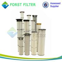 China FORST Supply Industrial Polyester Pleated Dust Cartridge Pulse Dust Filter Bag wholesale