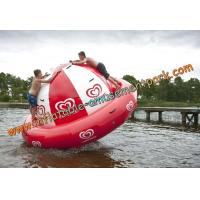 China Diameter 4m Customized Red Inflatable Water Sport For Amusement Park wholesale