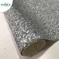China Non Woven Glitter Wall Fabric , Chunky Glitter Wallpaper Decorative Application wholesale