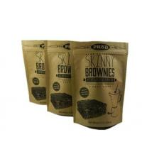 China Customized Printing Aluminum Foil Stand Up Packaging Zipper Kraft Brown Paper Bag on sale