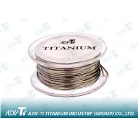 China Titanium wire ASTM B863 Titanium Alloy Wire for medical and glasses wholesale