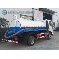 China FAC 4*2 2m3 Water Tanker Truck Sewage Suction Tanker Truck With Vacuum Pump wholesale