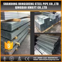 China Pre-Galvanized square perforated steel tubing for sign post wholesale