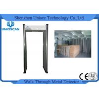 China Manufactured security walk through metal detector with 6 independent zones LED screen wholesale