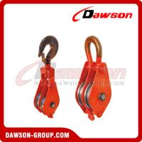 China DAWSON DSPB-F2 Hook (Chain link) Series Closed Double Wheel Pulley  from China Manufacturer on sale