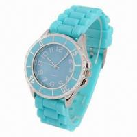 China Fashionable Silicone Watch with IPG-plating dial, beautiful cover, high quality, water resistant wholesale